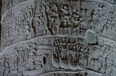 Details of Trajan's column in Rome by night — ストック写真
