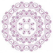 The abstract design of a circular pattern.  — ストックベクタ