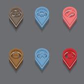 Isometric icons — Stock Vector