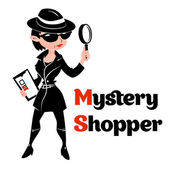 Black and white mystery shopper woman in spy coat — Stock Vector
