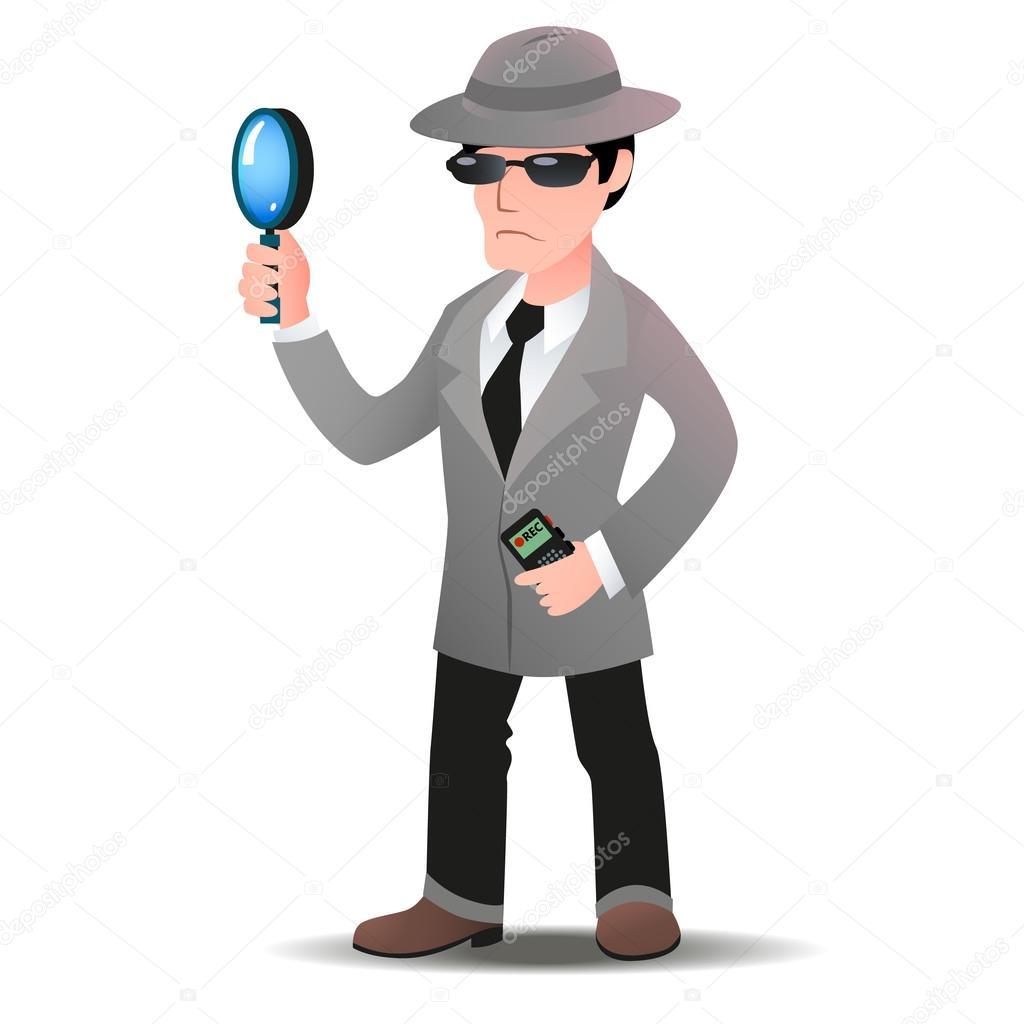 mystery shopper mann in spion mantel stockvektor secret agent clipart images secret agent clipart images
