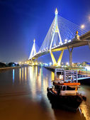 Bhumibol Bridge in Thailand, also known as the Industrial Ring Road Bridge, in Thailand. — Stock Photo