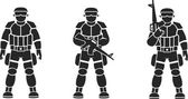 Soldiers — Stock Vector