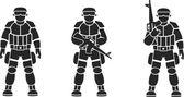Солдаты — Stock Vector