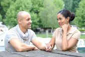 Young metis couple — Stock fotografie