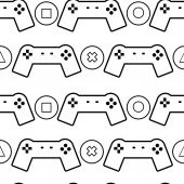 Gamepads and buttons pattern — Stock Photo