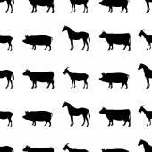 農場の動物のパターン. — ストック写真