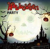 Плакат вечеринки в честь Хэллоуина. — Cтоковый вектор