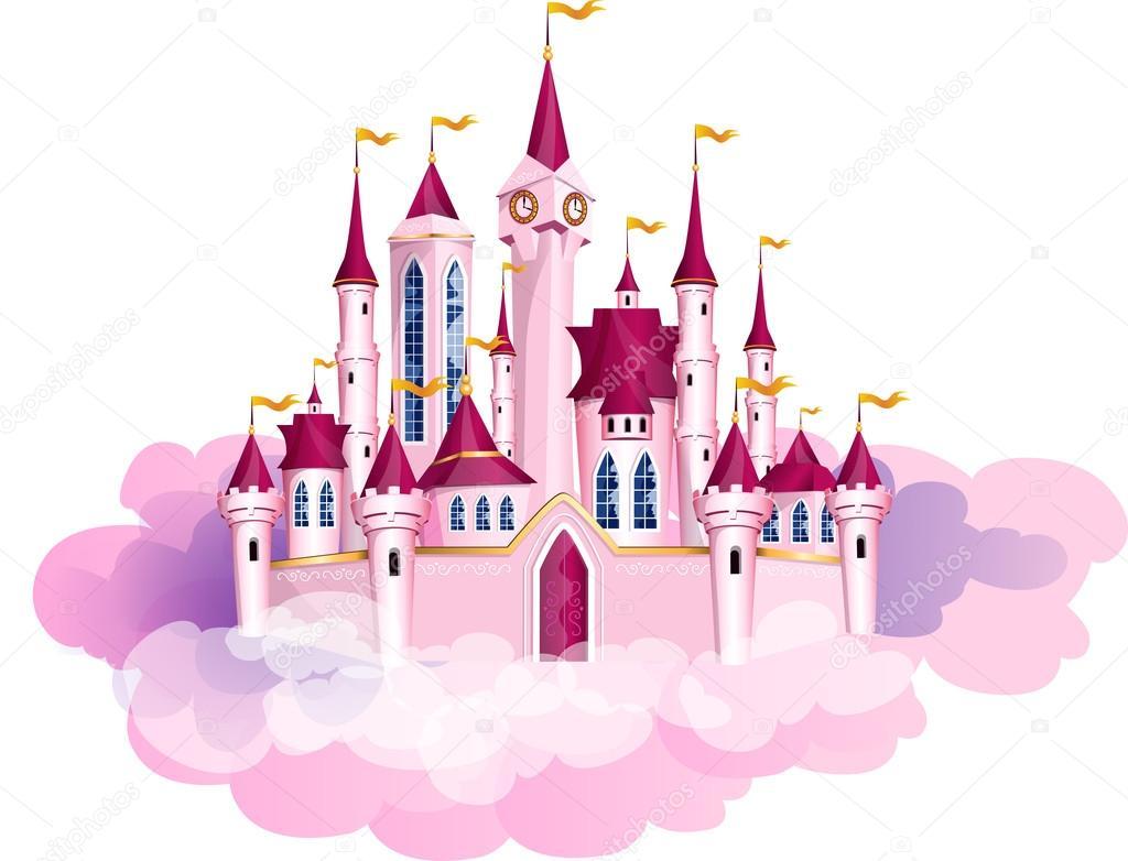 Disney Princess Castle Clipart Vector Pink Princess Magic