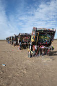 Cadillac Ranch installation in Amarillo, Texas — Foto Stock