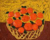 Photo d'oranges dans le panier — Photo