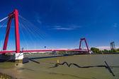 Willemsbrug Bridge in Rotterdam — Stock Photo