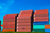Sea containers in Port of Rotterdam — Stock Photo