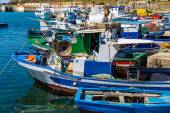 Fishing boats in Port of Favignana — Stock Photo