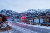 Bridge to Sommaroy island in Norway — Stock Photo