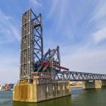 Drawbridges in Port of Antwerp — Stock Photo #80438464
