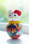 Doll lucky cat in home — Stock Photo