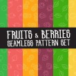 Set of vector simple fruits seamless patterns — Stock Vector #76565903