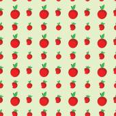 Seamless cute pattern with apples, can be used as a print fabric. Seamless vector illustration. background with red apples. — Stock Vector