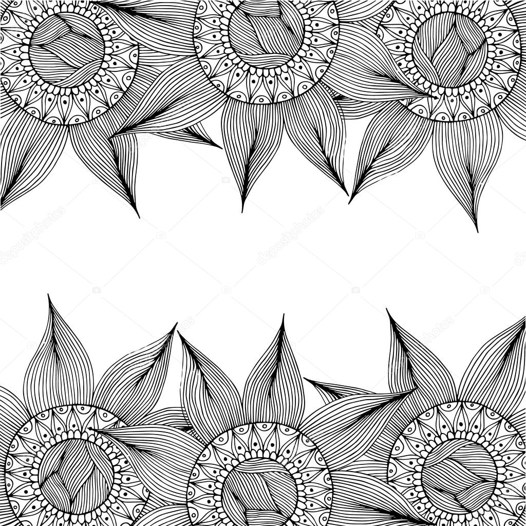 The wallpaper coloring book - Vector Pattern Black And White Illustration Can Be Used For Wallpaper Coloring Book Pages For Kids And Adults Vector By Dina_asileva