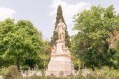 Ioannis Varvakis sochy v Athénách Sintagma. — Stock fotografie