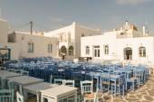 Naoussa på ön Paros i Grekland. Ett vackert turistmål. — Stockfoto