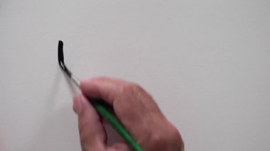 "Human hand writing ""BOOM"" with Black ink — Stock Video"