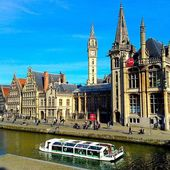 Beautiful belgian city Ghent — Stock Photo