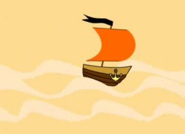 Small ship — Stock Video