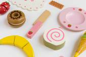 Food Preparation Toy Set for Kids — Stock Photo