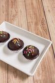 Chocolate Ball Cake — Stock Photo