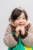Kid Shivering Background / Kid Shivering / Kid Shivering, Studio Isolated — Stock Photo