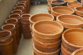 Thai pottery container style. — Stock Photo
