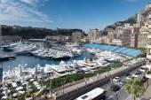 A view of Monaco's Port Hercule — Stock Photo