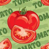 Seamless pattern of ripe red tomato — Stock Vector