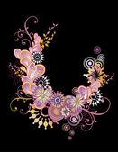 Botany_swirl_pink — Vetor de Stock