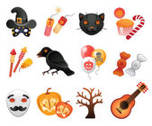 Halloween collection of icons. — Stock Vector