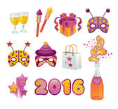 New Year Icon Set — Stock Vector