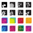Set of floral symbol icons. — Stock Vector #82855870
