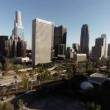 Aerial. Wide view of scenery around Downtown Los Angeles. California — Stock Video #78679292