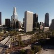 Aerial. Wide view of scenery around Downtown Los Angeles. California — Stock Video #78685586