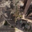 Aerial. Wide view of scenery around Downtown Los Angeles. California — Stock Video #78694660