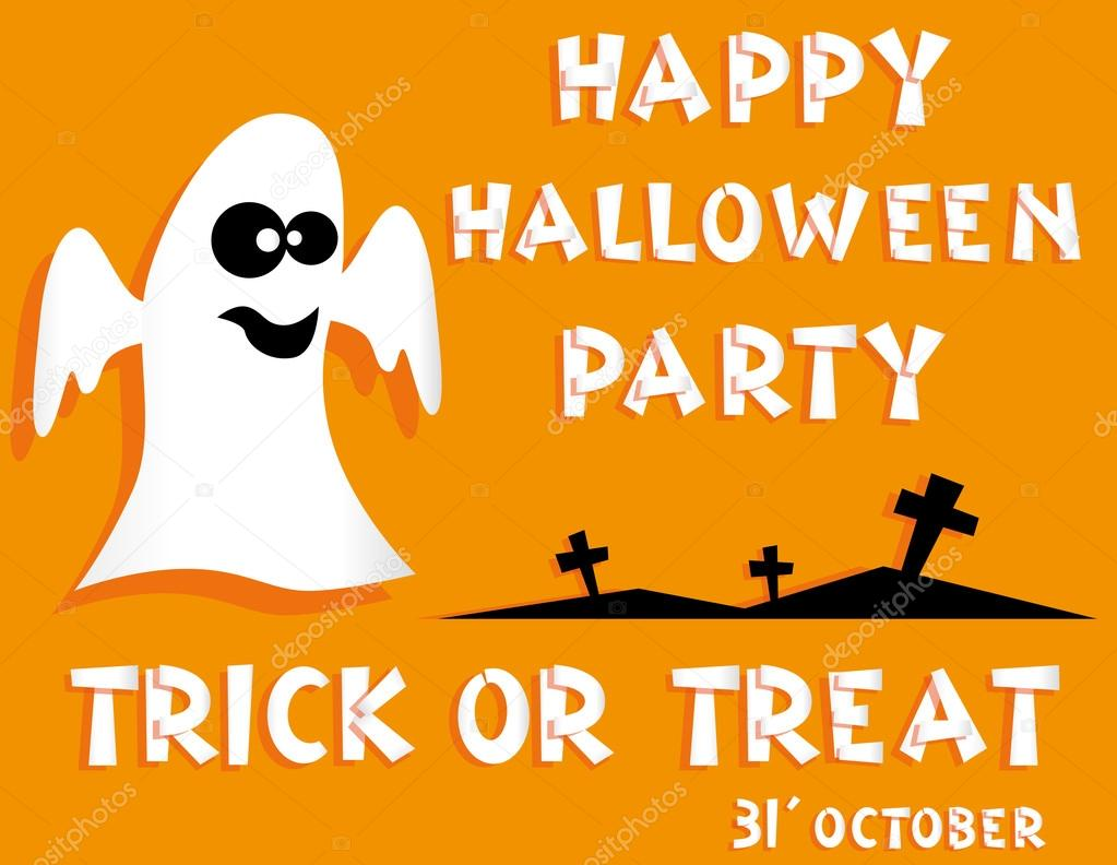 Holiday background. Title Happy Halloween party Trick or Treat and ...
