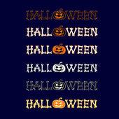Vector set halloween logo sur fond bleu foncé. Tous les éléments sont enregistrés également et en tant que pinceau. — Vecteur