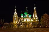 Church of Elijah the Prophet in Yaroslav at night — Foto Stock