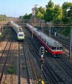 Passenger trains — Stock Photo