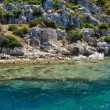 Ancient submerged city in Kekova — Stock Photo #79050644