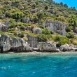 Ancient submerged city in Kekova — Stock Photo #79066684