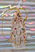Vintage glass xmas-tree decoration — Stock Photo