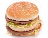Delicious juicy cheeseburger/hamburger — Stock Photo